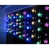 3M Crystal Stars Curtain 204 LED holiday lights