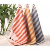 3pcs 35 * 35cm Striped cotton hand towel