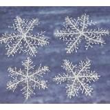 3pcs 8.5-30cm Christmas snowflake