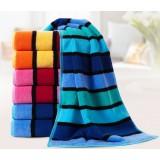 3pcs color stripes thicker towels