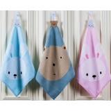 3pcs Cotton children small square towels