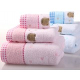 3pcs cotton towels + bath towel set