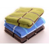 3pcs minimalist checkered cotton towels