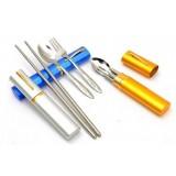 3pcs stainless steel chopsticks + Fork + Spoon Kit