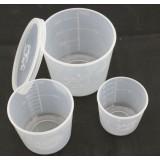 3pcs transparent fishing baits measuring cup