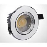 3W / 5W / 7W Silver Aluminium Ceiling COB LED Spot Light