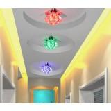 3W Color Mini Crystal LED ceiling lights