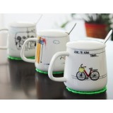 400ml cartoon style ceramic mug