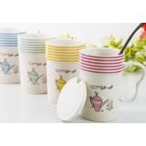 400ml Creative stripes style ceramic mug