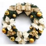 40cm golden bow Christmas wreath