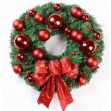 40cm red bow Christmas wreath