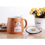 420ml cute cartoon animals ceramic mug