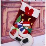 44cm Santa Claus + Bow Christmas Stocking
