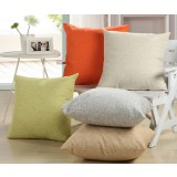 45 ~ 55cm solid color linen pillow cover