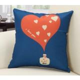 45cm heart-shaped series of linen pillow cover
