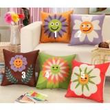 45cm sunflowers linen pillow cover