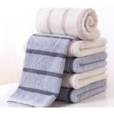 4pcs 70 * 34cm Striped cotton towels