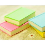 4pcs book-shaped multi-colored eraser