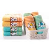 4pcs cartoon style package edge cotton towels