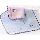 4pcs cartoon style square cotton towels