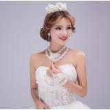 4pcs crown bridal accessories kit