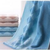 4pcs diamond pattern thickening towels