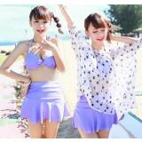 4pcs skirt style bikini swimwear