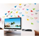 5 set Removable cartoon fish wall stickers