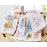 5pcs cartoon style children towels