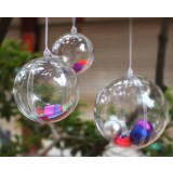 6-10cm transparent hollow Christmas Balls