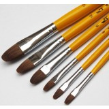 6pcs aluminum alloy wolf hair paintbrush set