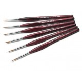 6pcs Line drawing wolf hair paintbrush set