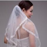 72cm lace bridal veil