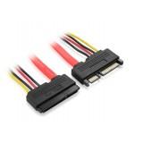 50CM SATA extension cable / 7 +15 SATA data power cable
