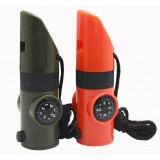 7 in 1 Multifunction whistle compass
