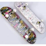 80cm ABS wheels double warping skateboard