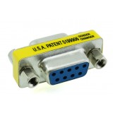 DB9 Female to Female Adapter / 9-pin to 9-pin serial connector adapter / RS232 adapter