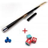 9.8mm Ash wood 3/4 split type billiards cue