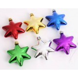 9cm 6pcs plating Christmas pointed star