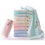 9pcs cartoon style children cotton towels