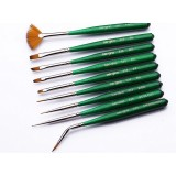 9pcs multipurpose nylon paintbrush set