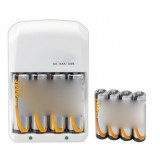 AA / AAA Rechargeable Battery + Charger Kit