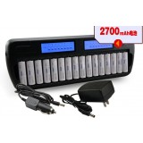 AA / AAA Smart Charger with 16 pcs AA batteries