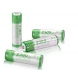 AA 4pcs NiMH rechargeable battery 2300mAh