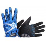 Abrasion resistant pattern design cycling gloves