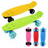 ABS + Aluminum + PU four wheels skateboard