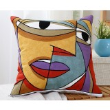 Abstract patterns embroidered throw pillow