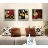 Abstract three-panels oil painting