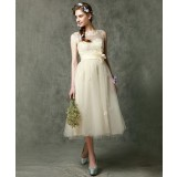 Adjustable straps bridesmaid dress