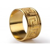 Alloy gold plated napkins ring